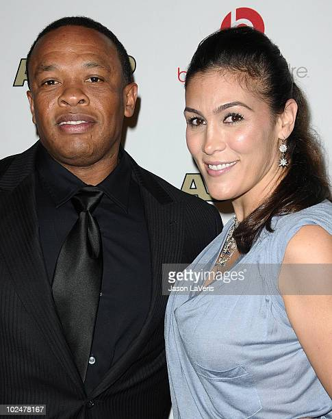 Dr Dre and wife Nicole Threatt attend the 23rd annual ASCAP Rhythm Soul Music Awards at The Beverly Hilton hotel on June 25 2010 in Beverly Hills...