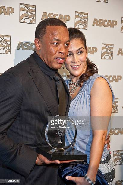 Dr Dre and wife Nicole Threatt attends The 23rd Annual ASCAP Rhythm Soul Music Awards at The Beverly Hilton hotel on June 25 2010 in Beverly Hills...