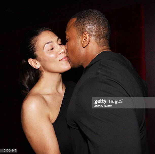 Dr Dre and wife Nicole Threatt Young attend the Diddybeats launch party celebration at the W Hotel in Union Square on May 26 2010 in New York City