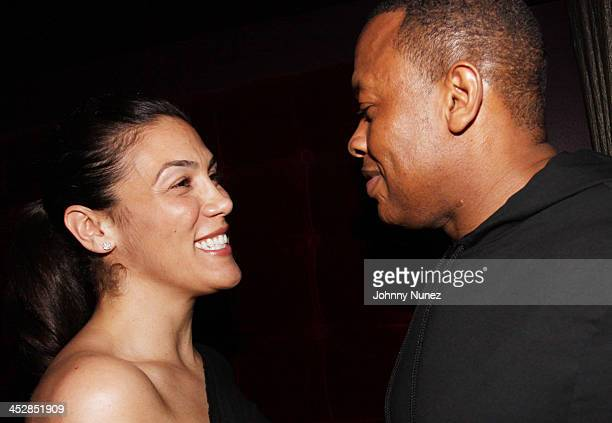 Dr Dre and wife Nicole Threatt Young attend the Diddybeats launch party celebration at Underbar at W Union Square on May 26 2010 in New York City