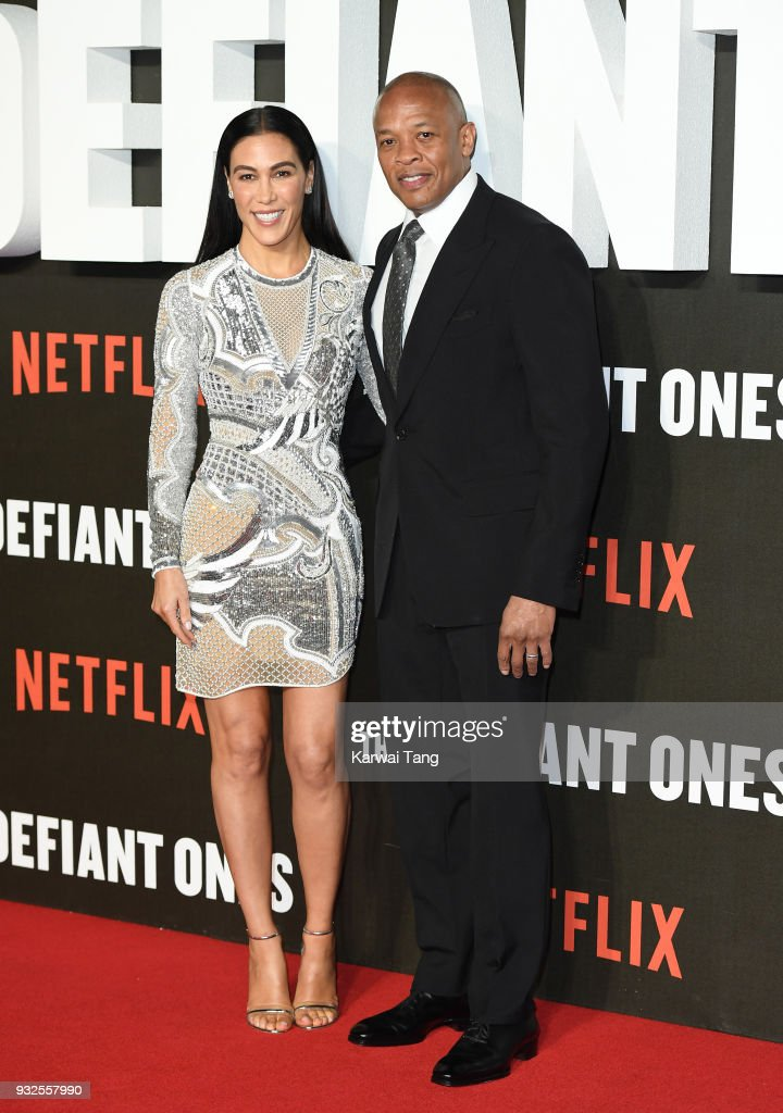 Dr. Dre and wife Nicole Young attend 'The Defiant Ones' special screening at the Ritzy Picturehouse on March 15, 2018 in London, United Kingdom.