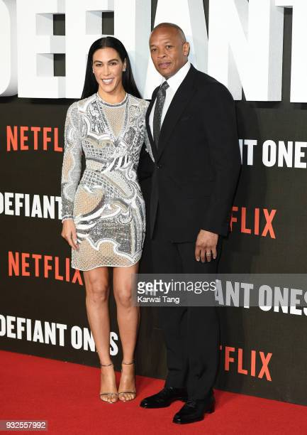 Dr Dre and wife Nicole Young attend 'The Defiant Ones' special screening at the Ritzy Picturehouse on March 15 2018 in London United Kingdom