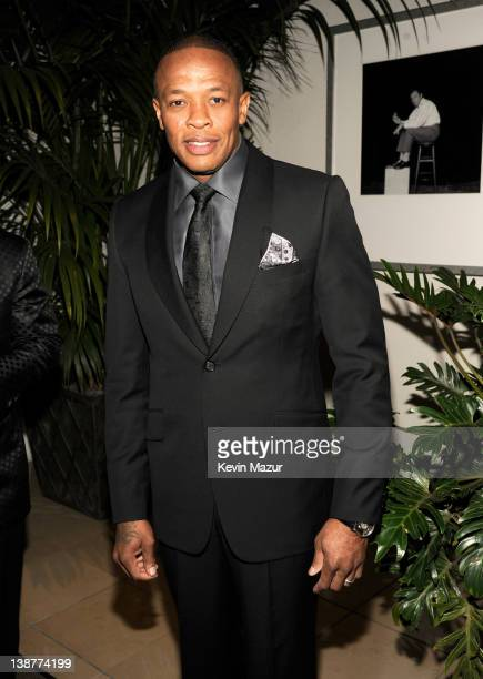 Dr Dre attends Clive Davis And The Recording Academy's 2012 PreGRAMMY Gala And Salute To Industry Icons Honoring Richard Branson at The Beverly...