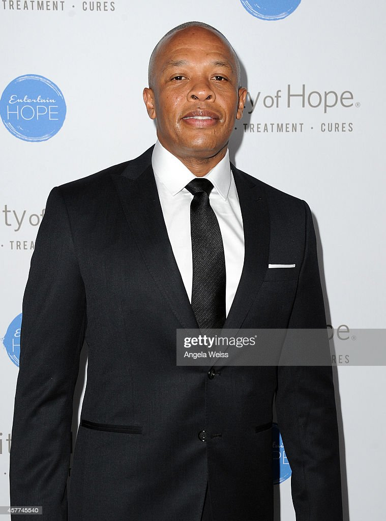 Dr. Dre attends the City of Hope Spirit of Life Gala honoring Apple's Eddy Cue at the Pacific Design Center on October 23, 2014 in West Hollywood, California.
