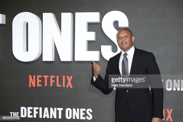 Dr Dre attends 'The Defiant Ones' special screening on March 15 2018 in London United Kingdom