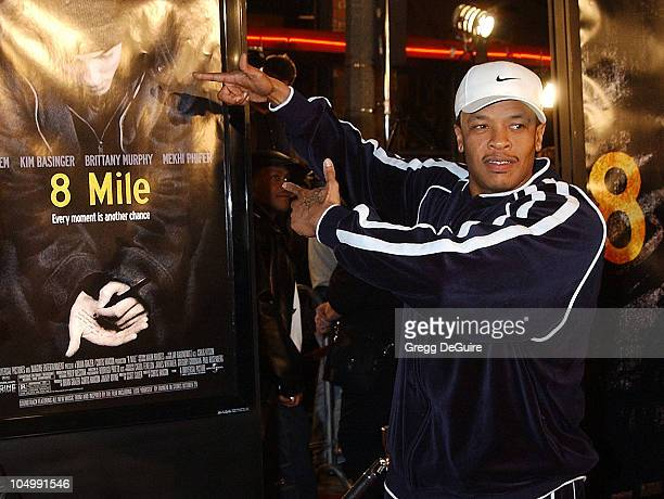 Dr Dre during '8 Mile' Westwood Premiere at Mann Village Theatre in Westwood California United States