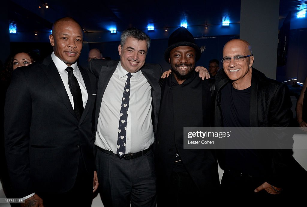 Dr. Dre, honoree Eddy Cue, will.i.am and Jimmy Iovine attend the City of Hope Spirit of Life Gala honoring Apple's Eddy Cue at the Pacific Design Center on October 23, 2014 in West Hollywood, California.