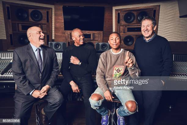 Dr Dre Pharrell Williams Howard King and Peter Paterno are photographed for The Hollywood Reporter on March 23 2017 in Los Angeles California