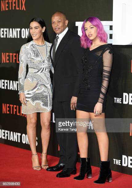 Dr Dre wife Nicole Young and daughter Truly Young attend 'The Defiant Ones' special screening at the Ritzy Picturehouse on March 15 2018 in London...