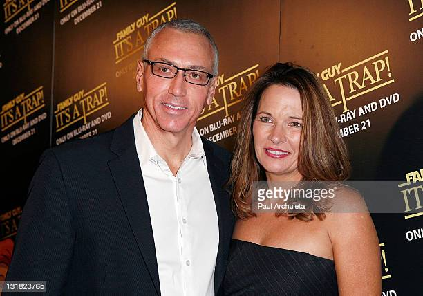 Dr Drew Pinsky and his wife arrives at the BluRay/DVD launch of Family Guy It's A Trap at SupperClub Los Angeles on December 14 2010 in Los Angeles...
