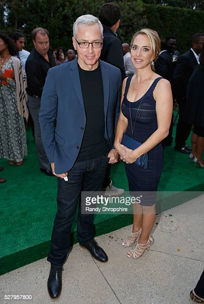 Dr Drew Pinsky and Susan Pinsky attend Russell Simmons' Rush Philanthropic Arts Foundation's inaugural Art For Life Los Angeles at Private Residence...