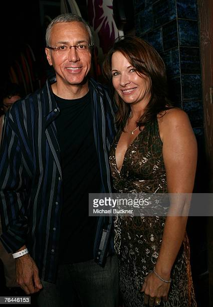 Dr Drew Pinsky and wife Susan attend the VH1 Back to School Party at the LG Beach House on August 31 2007 in Malibu California