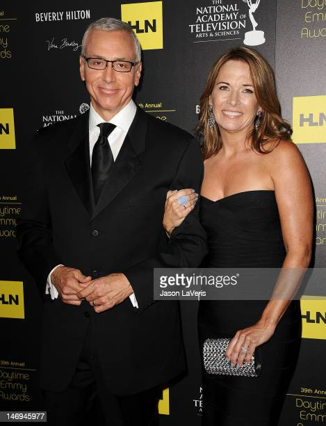 Dr Drew Pinsky and wife Susan Pinsky attend the 39th annual Daytime Emmy Awards at The Beverly Hilton Hotel on June 23 2012 in Beverly Hills...