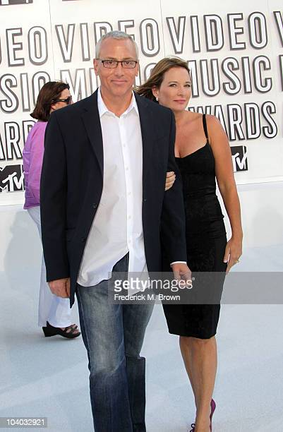 Dr Drew Pinsky and wife Susan Sailer arrive at the 2010 MTV Video Music Awards at NOKIA Theatre LA LIVE on September 12 2010 in Los Angeles California