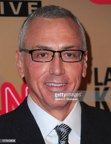 """Dr. Drew Pinsky arrives at CNN's """"Larry King Live"""" final broadcast party at Spago restaurant on December 16, 2010 in Beverly Hills, California."""