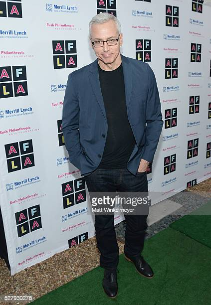 Dr Drew Pinsky attends Russell Simmons' Rush Philanthropic Arts Foundation's inaugural Art For Life Los Angeles at Private Residence on May 3 2016 in...