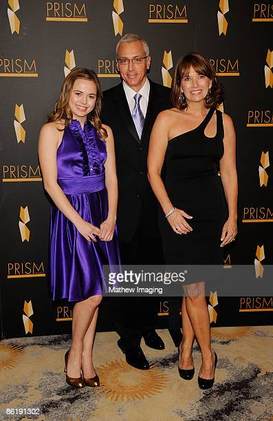 Dr Drew Pinsky his daughter Paulina and wife Susan attend The 2009 PRISM Awards held at the Beverly Hills Hotel on April 23 2009 in Beverly Hills...