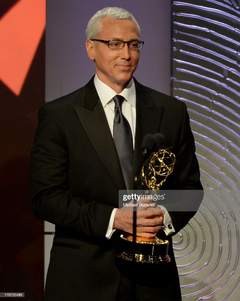 Dr. Drew Pinsky speaks onstage during the 40th Annual Daytime Emmy Awards at the Beverly Hilton Hotel on June 16, 2013 in Beverly Hills, California. 23774_001_2120.JPG