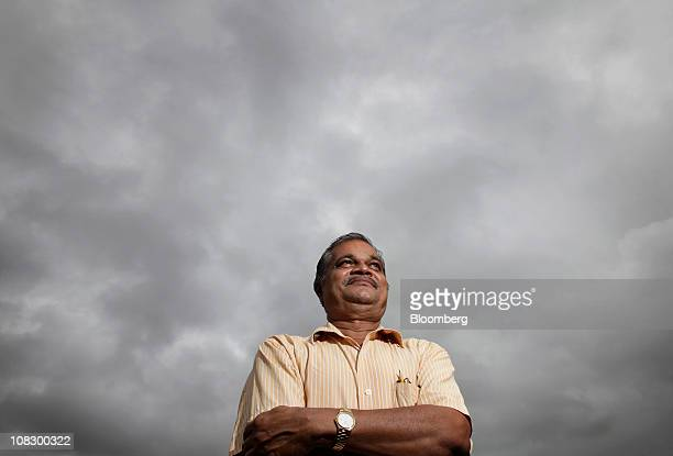 Dr DV Borole of the National Institute of Oceanography in India poses near the beach where he collects air samples of greenhouse gases in Cabo De...
