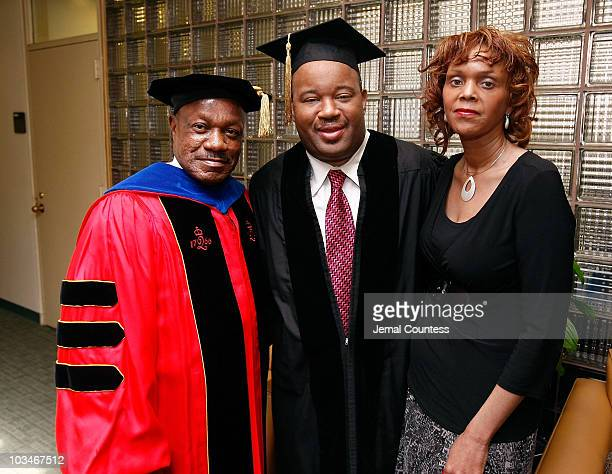 Dr Edison O Jackson President of Medgar Evers College Media Personality Dominic Carter and his wife attend the 3rd Pi Eta Kappa Honor Society...