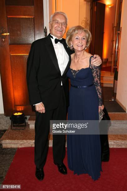 Dr Edmund Stoiber former prime minister of Bavaria and his wife Karin Stoiber during the 80th birthday party of Roland Berger at Cuvillies Theatre on...