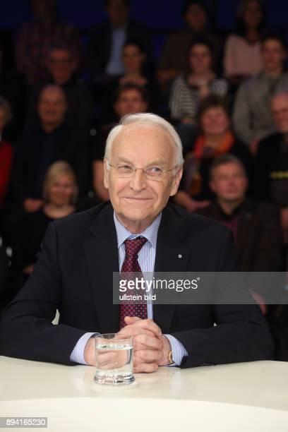 Dr Edmund Stoiber in der ZDFTalkshow maybrit illner am in Berlin Koalition der Wenigen Wer steht noch zu Merkel