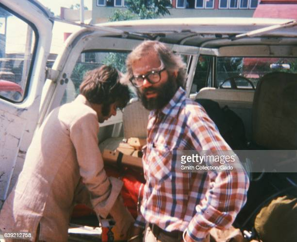 Dr Edward Brink loads a truck before participating in smallpox eradication efforts in Nepal 1975 Image courtesy CDC/Dr Edward Brink