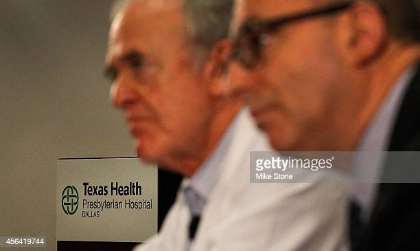 Dr Edward Goodman epidemiologist at Texas Health Presbyterian Hospital Dallas and Dr Mark Lester Southeast Zone clinical leader for Texas Health...