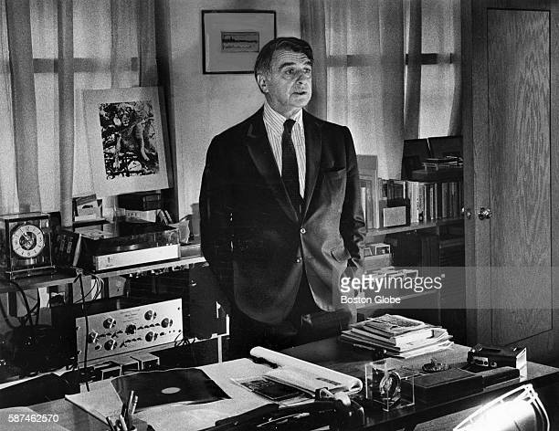 Dr Edwin H Land poses in office in Cambridge Mass on Oct 12 1976