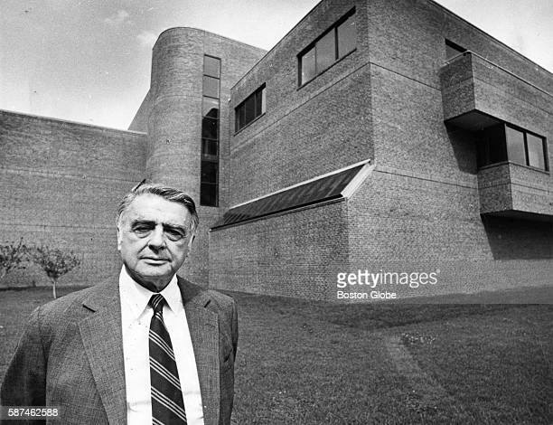Dr Edwin Land the founder of Polaroid stands outside his new office at the Rowland Institute in Cambridge Mass on July 30 1982