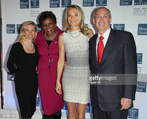 Dr Elisa Port newswoman Pat Battle Dr Eva AnderssonDubin and board chairman Peter May attend the opening of Dubin Breast Center at the Tisch Cancer...