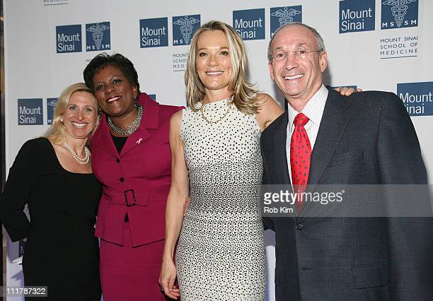 Dr Elisa Port Pat Battle Dr Eva AnderssonDubin and Peter W May attend the opening of Dubin Breast Center at the Tisch Cancer Institute at Mount Sinai...
