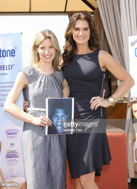 Dr Elizabeth Hale Clinical Associate Professor of Dermatology at the NYU School of Medicine and actress Brooke Shields attend Coppertone's Suncare...