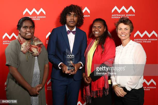 Dr Emilie Ens Melissa Wurramarrba Ernest Daniels and Shania Miller of the Ngukurr Wi Stadi bla Kantri Research Team Macquarie University are...