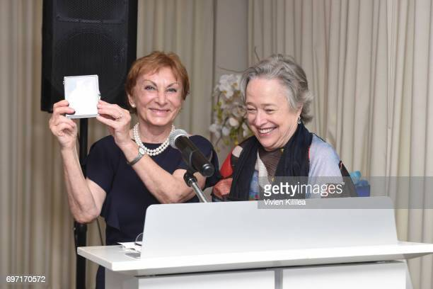 Dr Emily Iker and actress Kathy Bates attend Academy Award Winner and LERN Spokesperson Kathy Bates Hosts Reception On The Eve Of The Third Annual...
