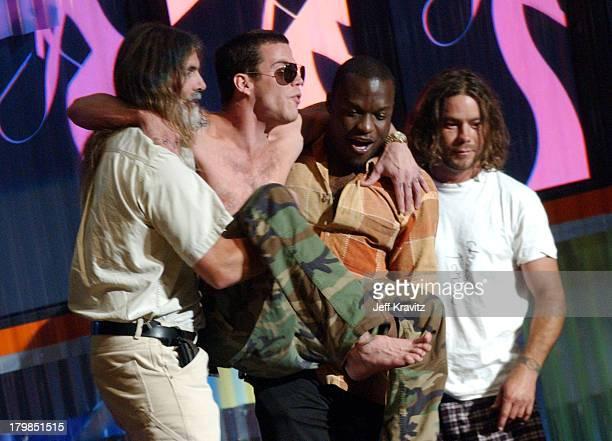 Dr. Erick Elias, Steve-O and Chris Pontius during MTV Video Music Awards Latin America 2003 - Live Telecast at Jackie Gleason Theater in Miami Beach,...