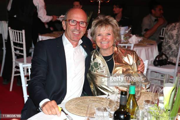 Dr Ernst Otto Muench and his wife Traudl Muench during the FCR EAGLES Masters Toscana golf tournament Dinner of FalkRaudies FCR Immobilien AG at...