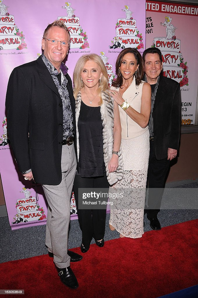Dr. Estella Sneider (2nd L) and guests attend the opening night performance of 'Divorce Party - The Musical' at El Portal Theatre on March 3, 2013 in North Hollywood, California.