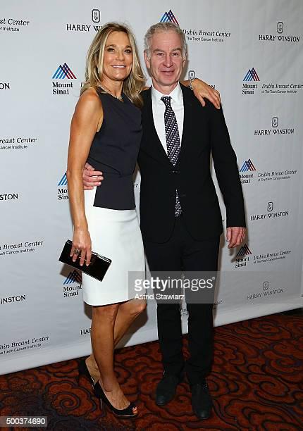 Dr Eva AnderssonDubin and John McEnroe attend the 5th Annual Dubin Breast Center At Mount Sinai Benefit at Mandarin Oriental Hotel on December 7 2015...