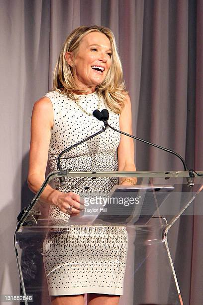 Dr Eva AnderssonDubin speaks during the opening of Dubin Breast Center at the Tisch Cancer Institute at Mount Sinai Hospital on April 6 2011 in New...