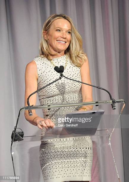 Dr Eva AnderssonDubin speaks to invited guests at the opening of Dubin Breast Center at the Tisch Cancer Institute at Mount Sinai Hospital on April 6...