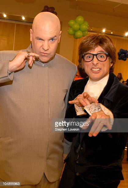 Dr Evil and Austin Powers during Children's Day Artrageous Hosted by The Edwin Gould Foundation at The Metropolitan Pavillion in New York City NY...