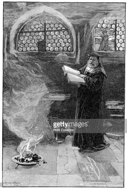 Dr Faustus conjuring up Mephistopheles Faust formed subject of dramas by Christopher Marlowe and Goethe Goethe version basis for Gounod's opera...