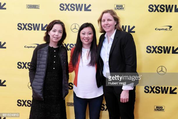 Dr FeiFei Li Joanne Chen and Megan Smith attend Democratizing AI for Individuals Organizations during SXSW at Austin Convention Center on March 13...