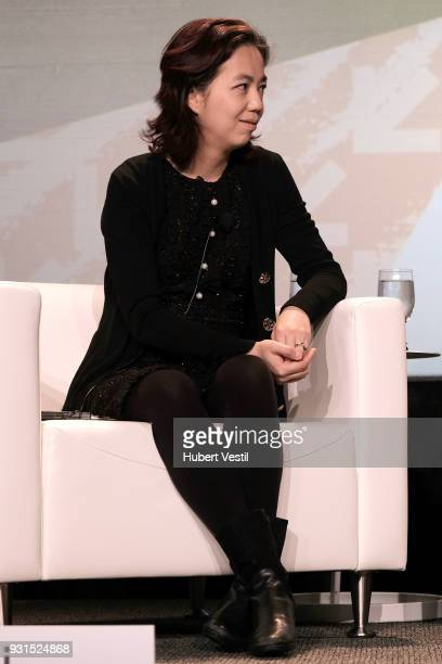 Dr FeiFei Li speaks onstage at Democratizing AI for Individuals Organizations during SXSW at Austin Convention Center on March 13 2018 in Austin Texas
