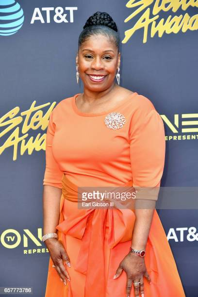 Dr Feranda Williamson of Chicago Mass Choir arrives at the 32nd annual Stellar Gospel Music Awards at the Orleans Arena on March 25 2017 in Las Vegas...
