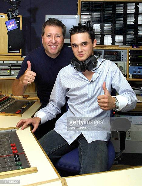 Dr Fox and Gareth Gates during Gareth Gates Visits Capital FM Radio - July 4, 2002 at Leicester Square in London, Great Britain.