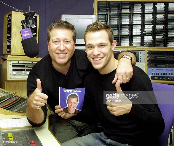 Dr Fox and Will Young during Will Young Visits Capital FM Radio at Leicester Square Great Britain
