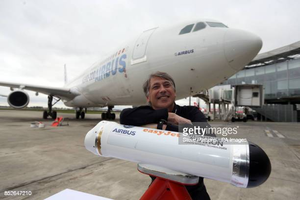 Dr Fred Prata who invented AVOID volcanic technology with the original detector at the Airbus factory in Toulouse France