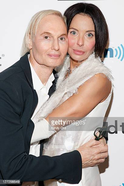 Dr Frederic Brandt and Lisa Maria Falcone attend Dr Fredric Brandt's SiriusXM launch event at SiriusXM Studio on September 26 2011 in New York City